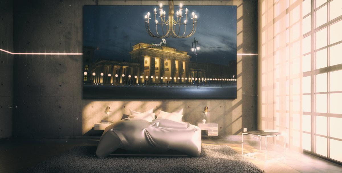 3D Visualisierung Innenraum Schlafzimmer Loft Berlin